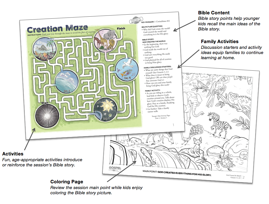 New for Kids This Fall: Activity Pages - The Gospel Project